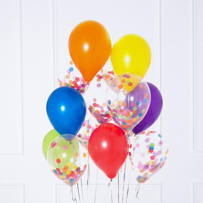 Confetti Balloon Bunch - Rainbow