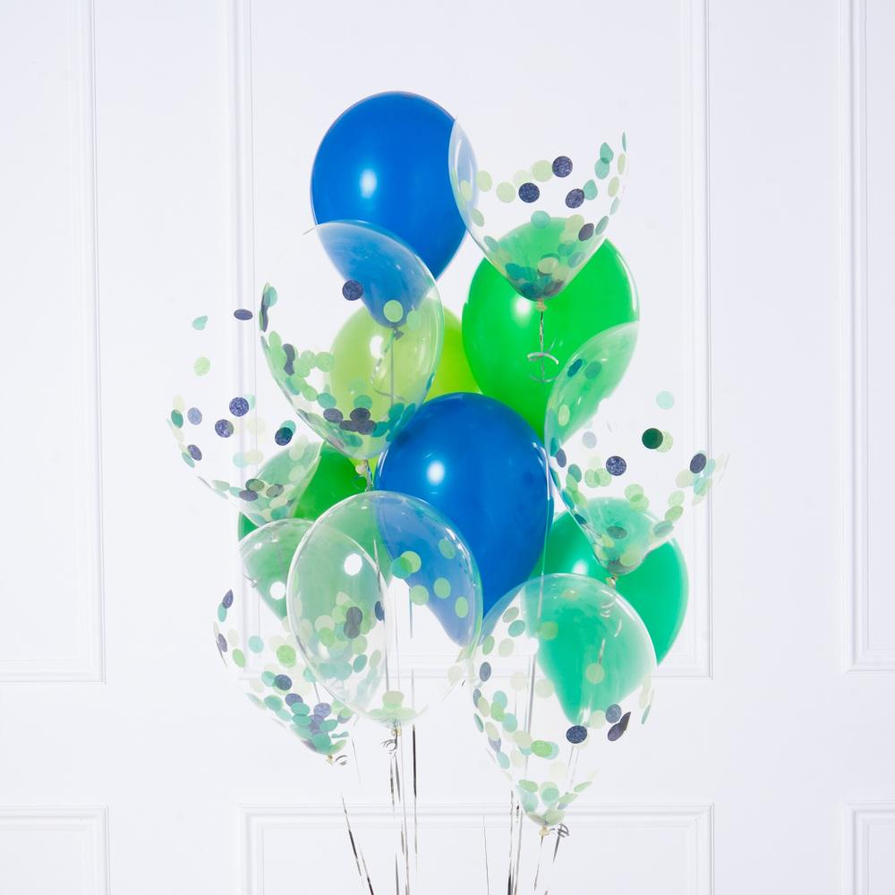 Confetti Balloon Bunch - Dinosaur