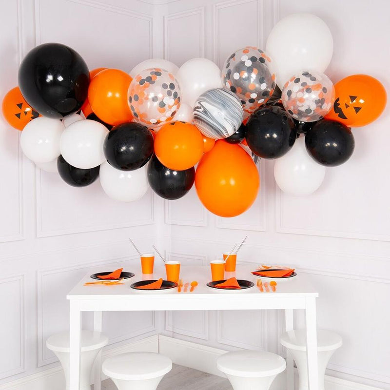 Balloon Cloud - Halloween Orange/Black