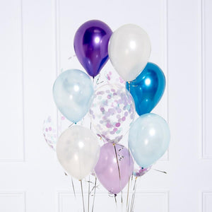 Confetti Balloon Bunch - Ice Princess