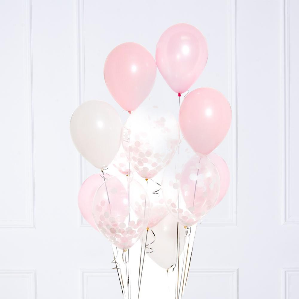 Confetti Balloon Bunch - Pretty Pastel Pink