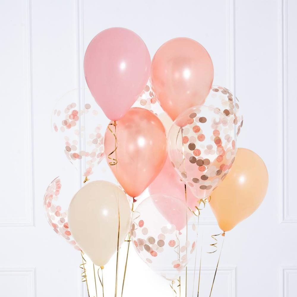 Confetti Balloon Bunch - Rose Gold Blush