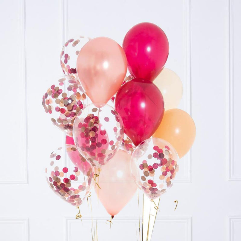 Confetti Balloon Bunch - Berry Blush
