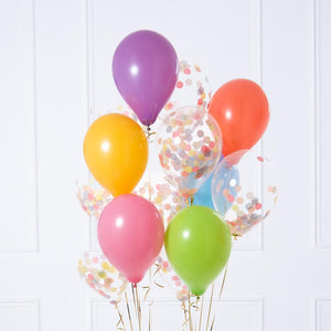 Confetti Balloon Bunch - Rainbow Pastel