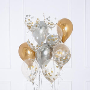 Confetti Balloon Bunch - Stylish Metallic