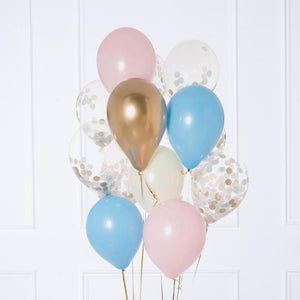 Confetti Balloon Bunch - Gender Reveal