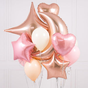 Crazy Balloon Bunch - Rose Gold Blush