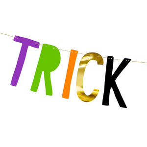 Trick or Treat - Halloween Letter Bunting