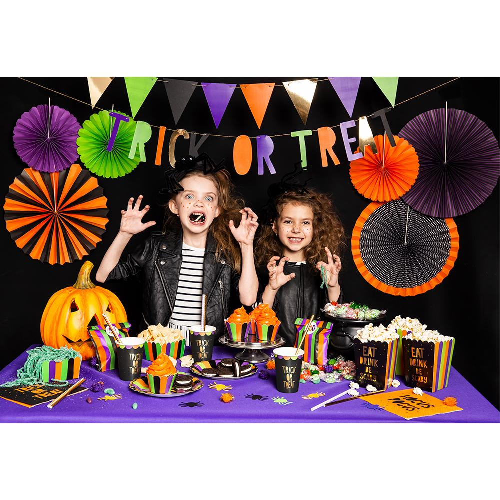 Trick or Treat - Fan Party Decorations (x6)
