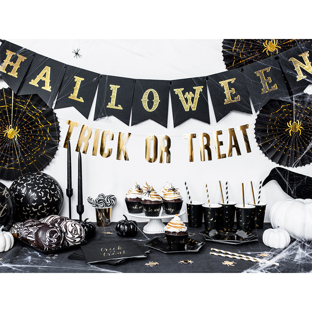 Halloween Black and Gold Bunting