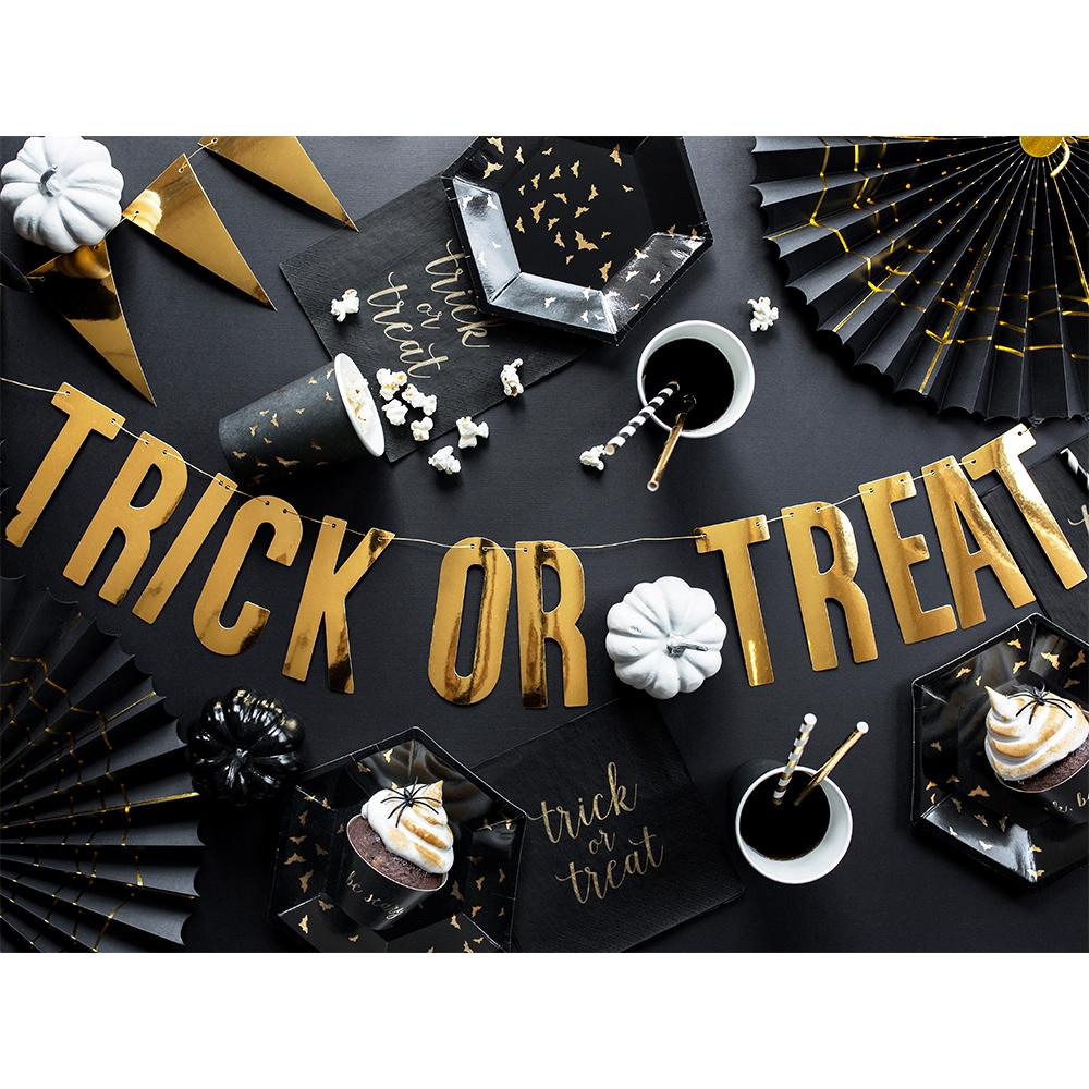Trick or Treat - Gold Letter Bunting