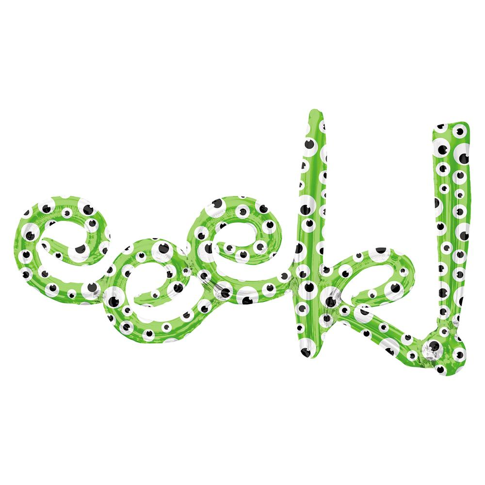 Eeek! Green Foil Halloween Party Balloon