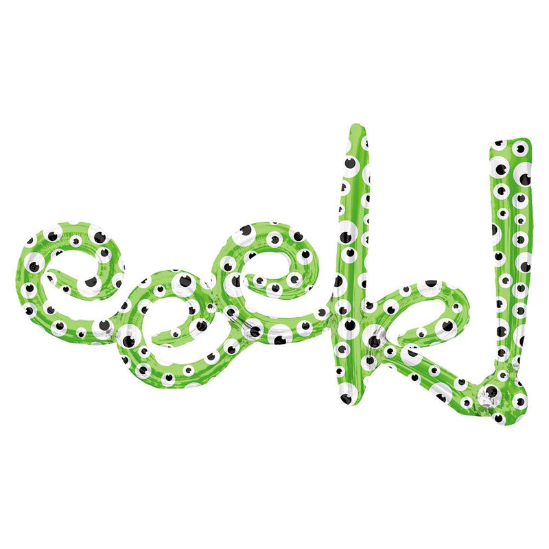 Eeek! Green Foil Phrase Balloon