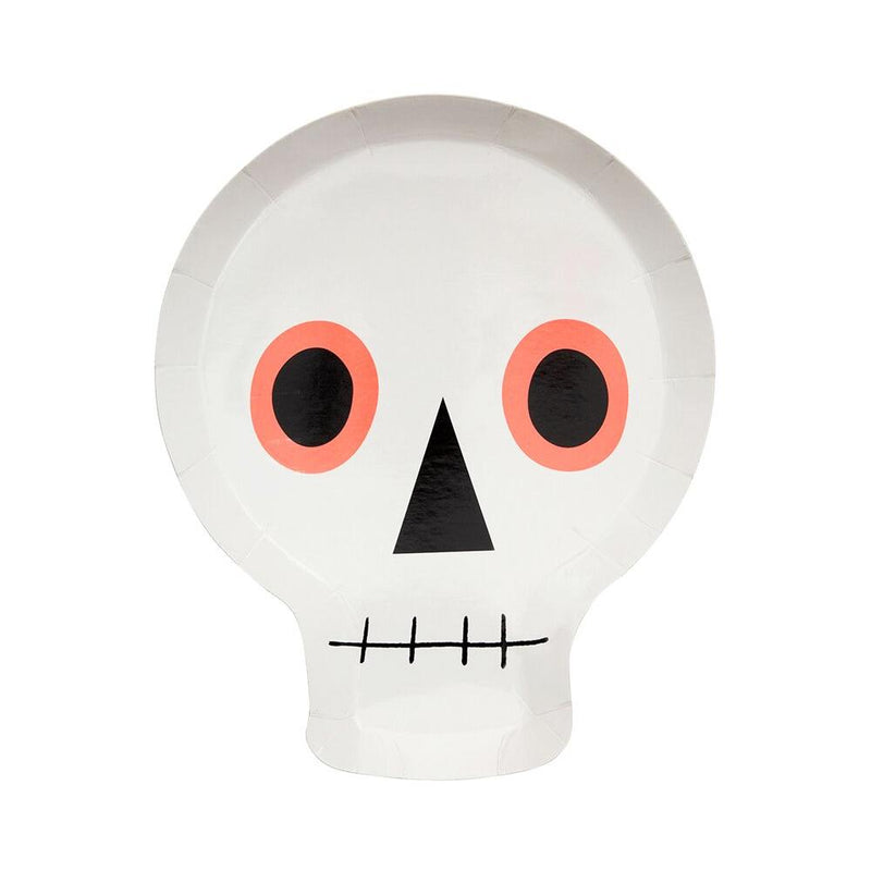 Halloween Icons - Skull Paper Party Plates (x12)