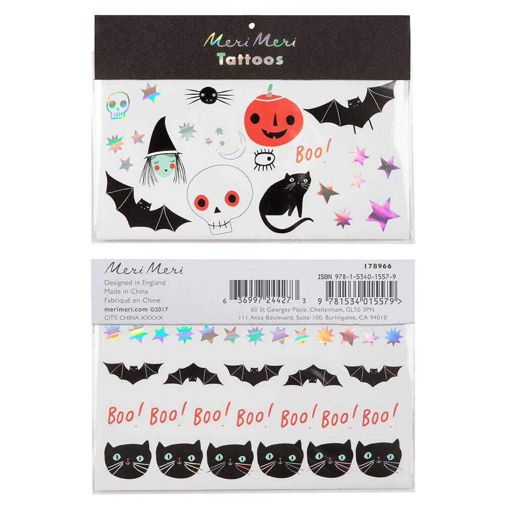 Halloween Icons - Temporary Tattoo Sheets (x2)