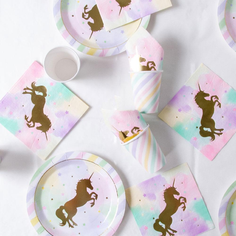 Unicorn Sparkle Party Table Set (x8)