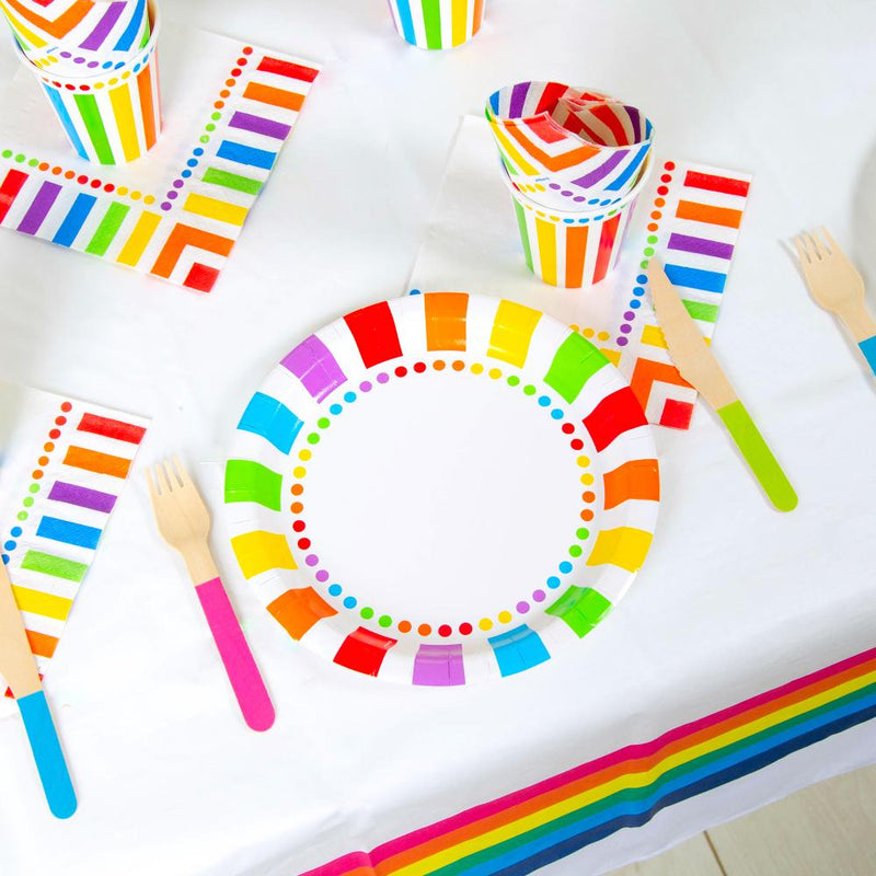 Rainbow Stripe Party Table Set