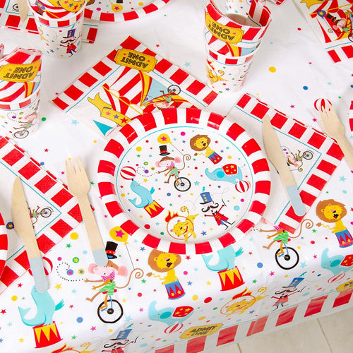 Circus themed party decorations Balloons Party Hats Paper Plates
