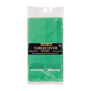 Paper Party Table Cover Pine Green