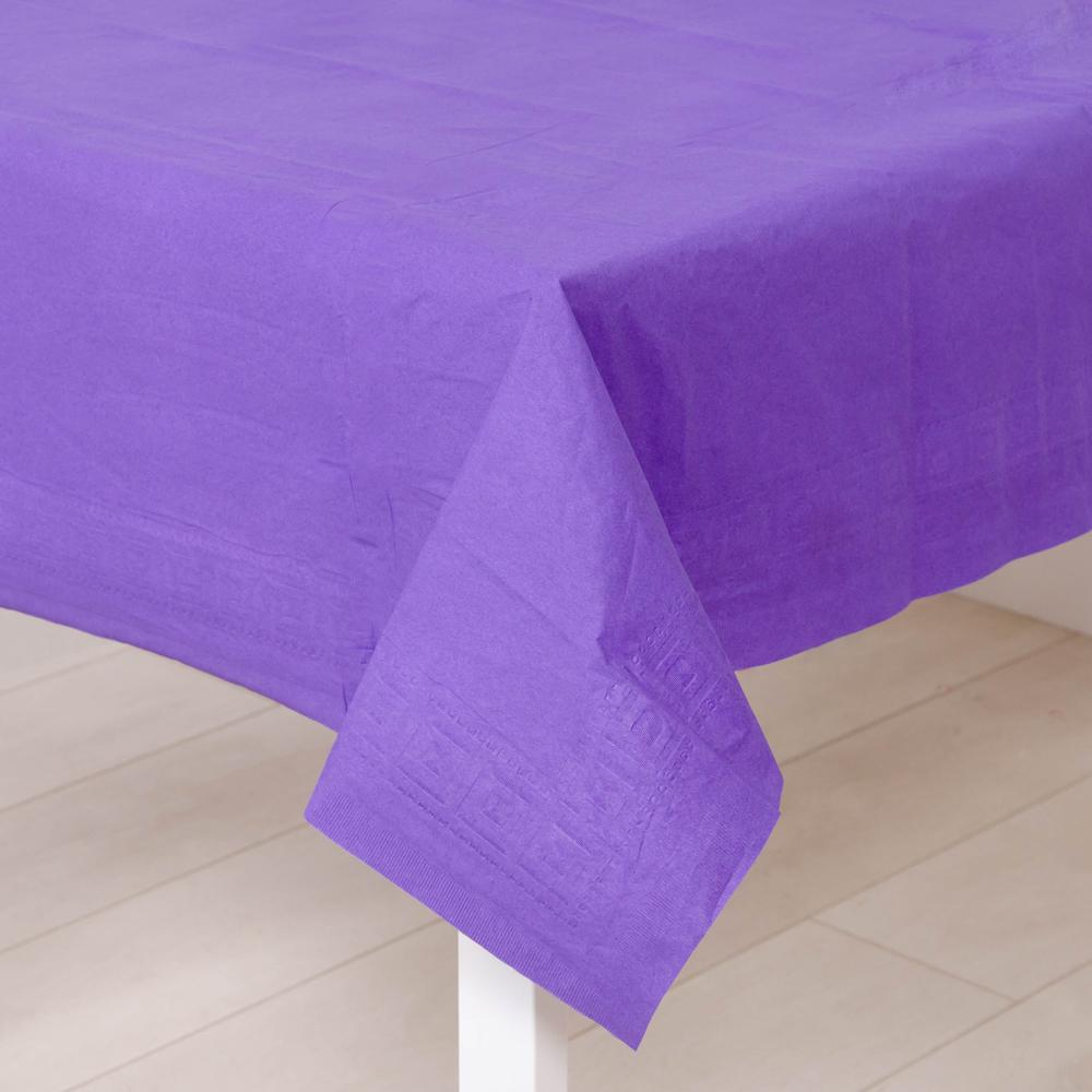 Paper Party Table Cover Purple