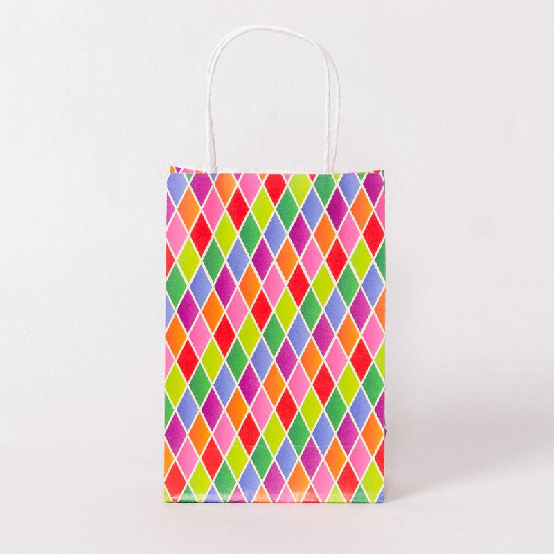 Harlequin Party Bags with Handles (x12)