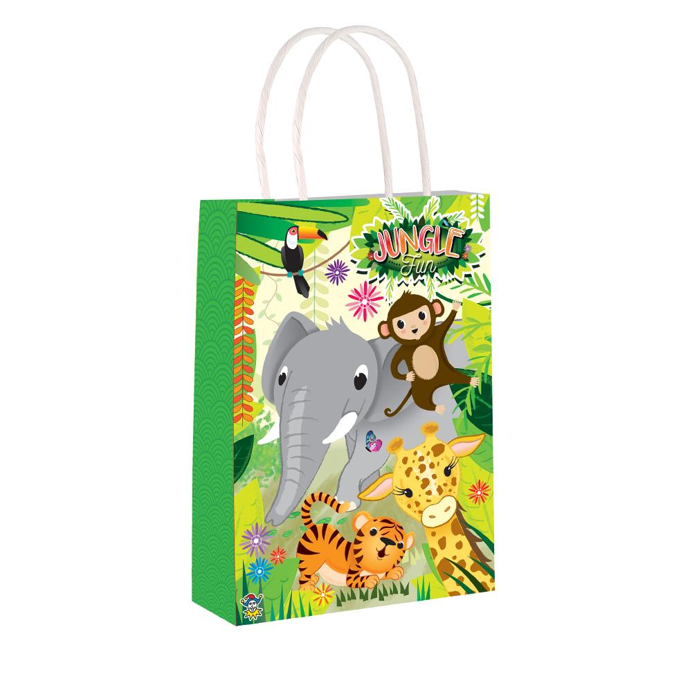 Jungle Party Bags with Handles (x12)