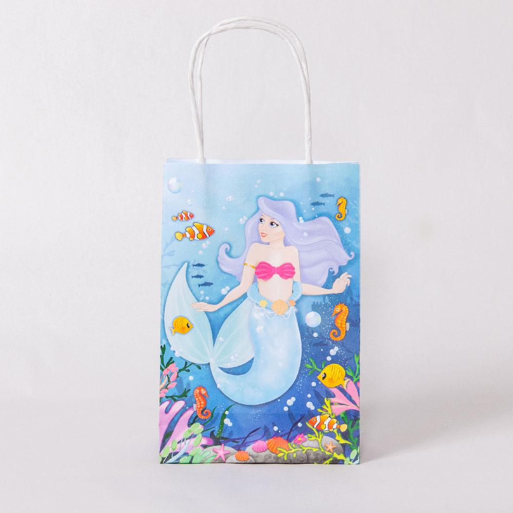 Mermaid Party Bags with Handles (x12)