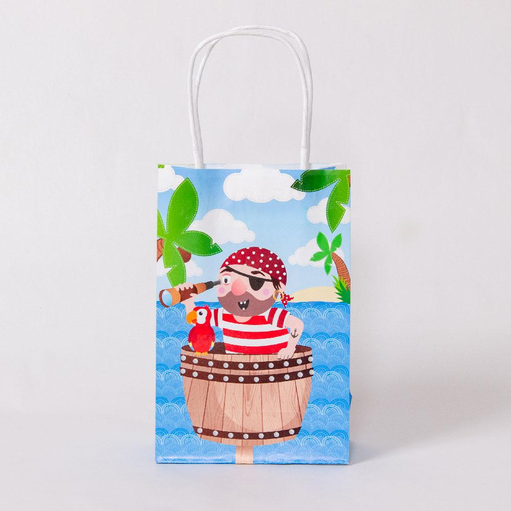 Pirate Party Bags with Handles (x12)