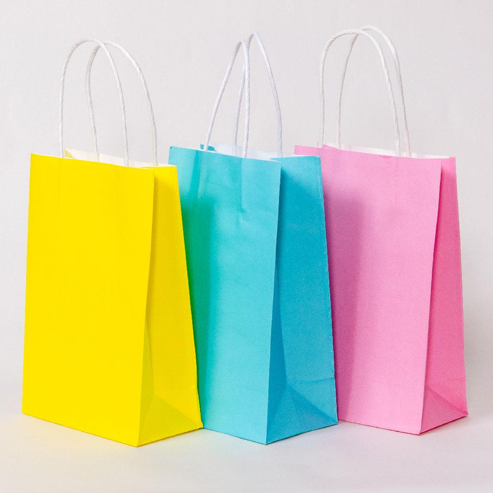 Pastel Mix Party Bags with Handles (x12)