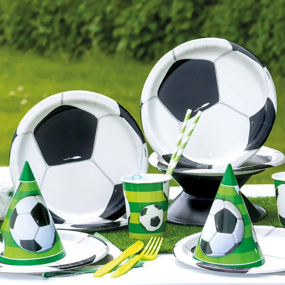 Football Paper Party Plates (x8)