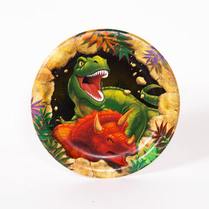 Dino Blast - Small Paper Party Plates (x8)