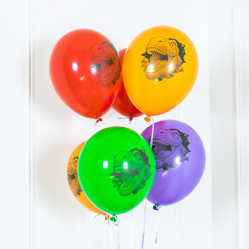 Dino Blast - Latex Party Balloons (x6)