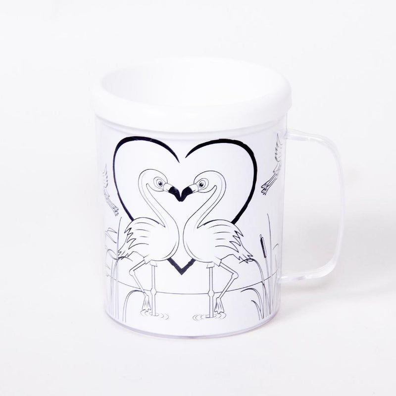 Flamingos Colouring Mug (each)