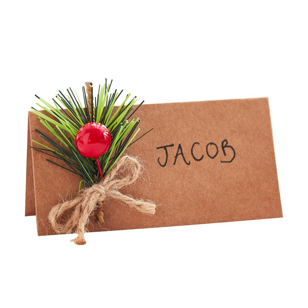 Place Card with Foliage (x6)