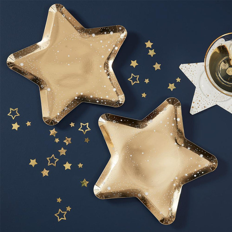 Star Shaped Paper Party Plates (x5)