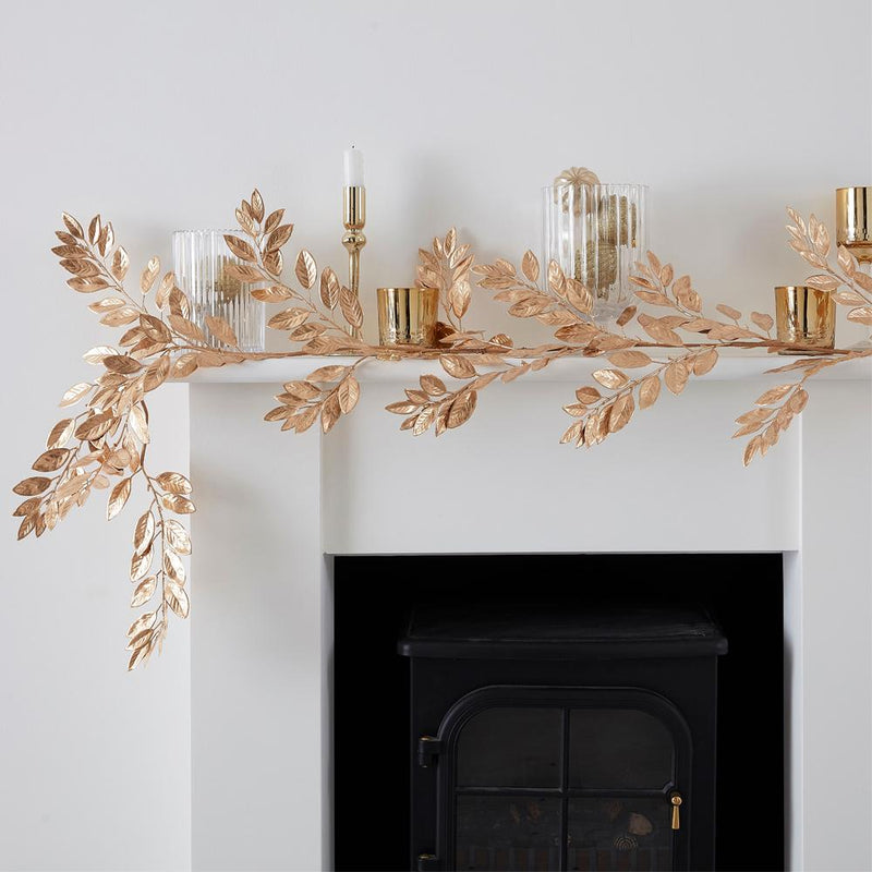 Gold Foliage Christmas Garland