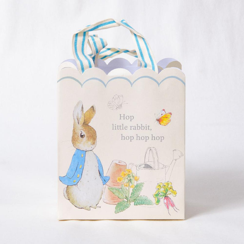 A classic, vintage-styled, Peter Rabbit party bag