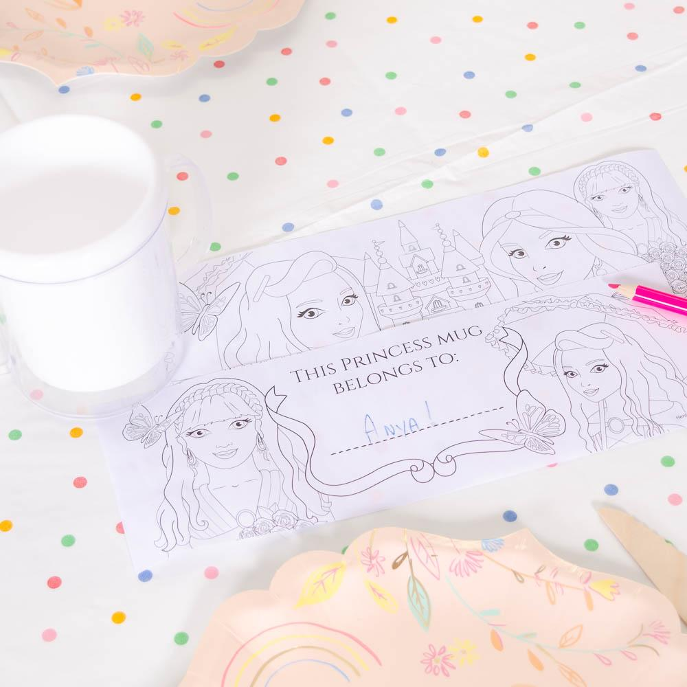 Princess Colouring Mug (each)