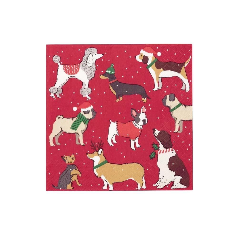 Christmas Dog Party Napkins (x20)