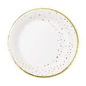 Star Gold Paper Party Plates (x12)