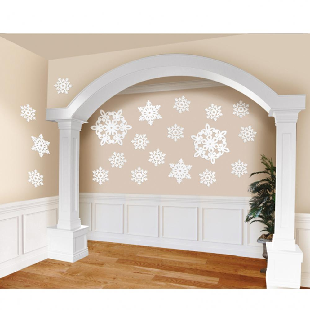 Christmas Glitter Snowflake Cut-out Decoration Kit (x20)