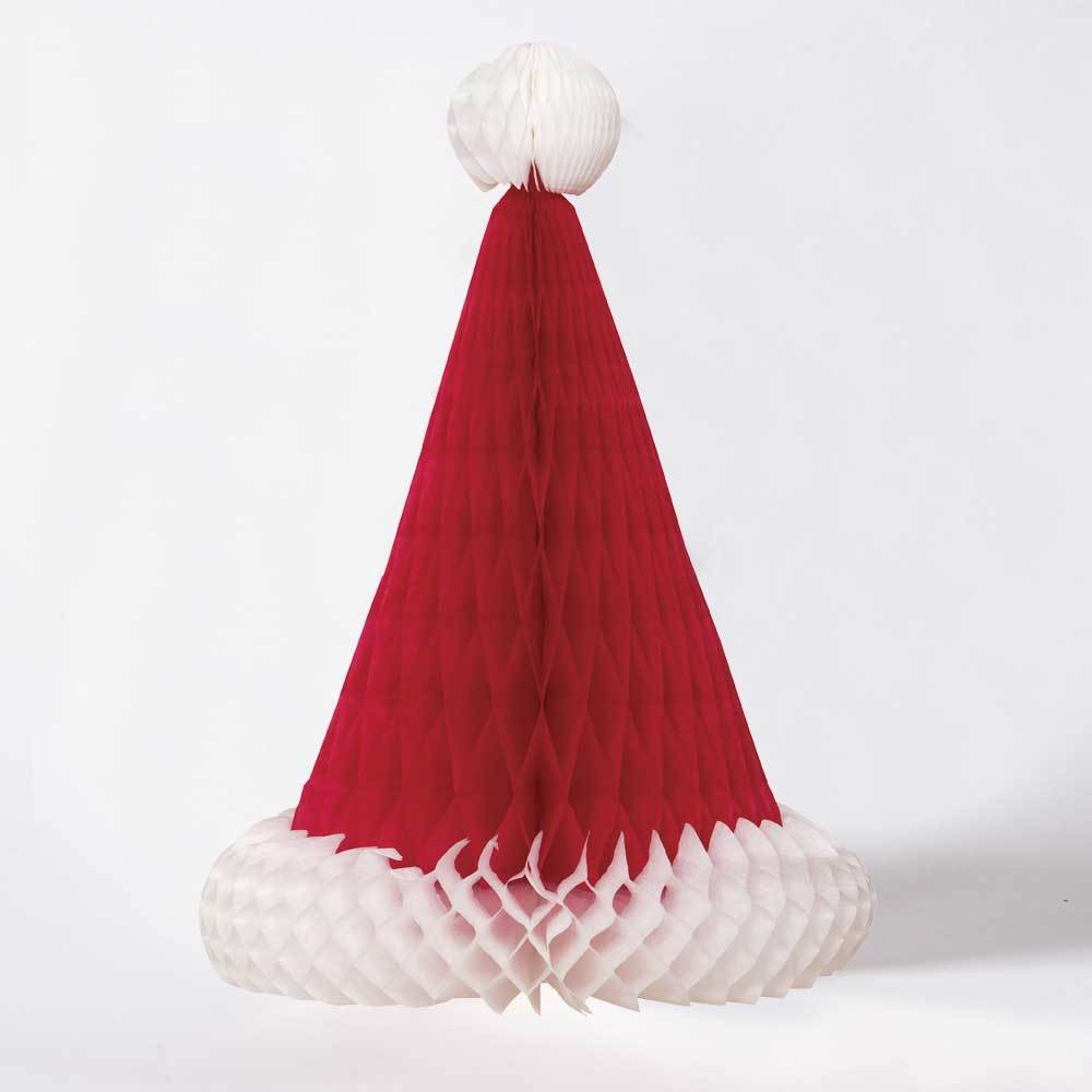 Santa Hat Honeycomb Decorations
