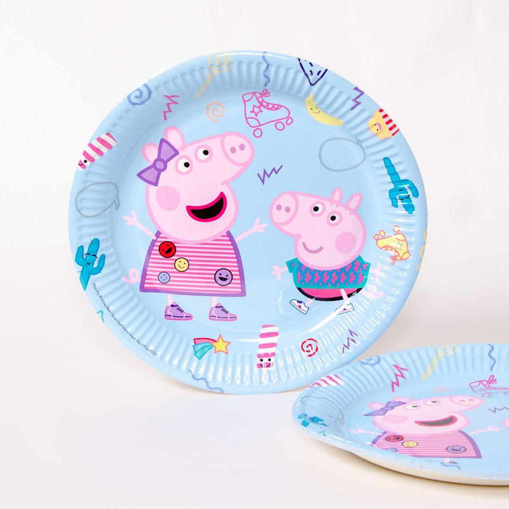 Peppa Pig Paper Party Plate - Large (x8)