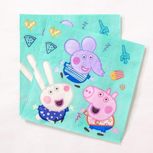 Peppa Pig Paper Party Napkins (x20)
