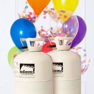 "Large Helium Canister Twin Pack – Up to 100 9"" Balloons"