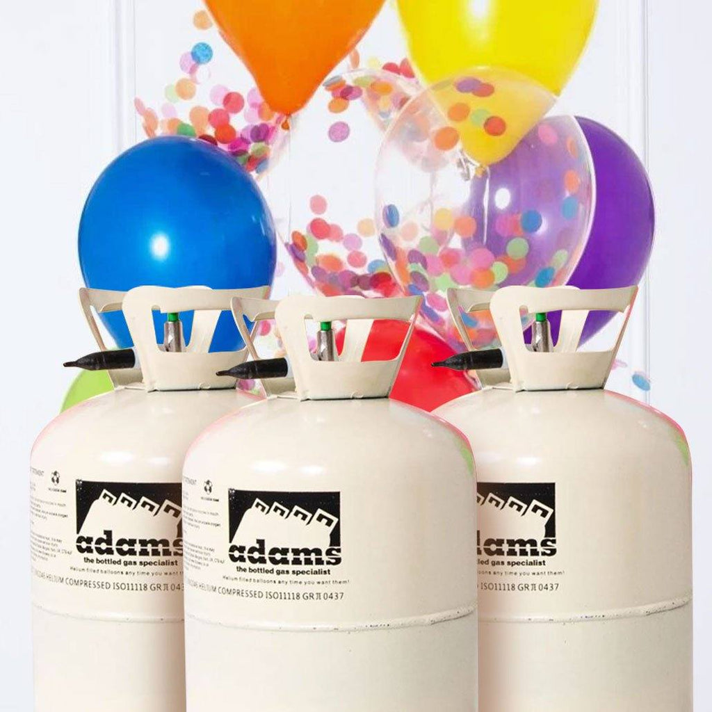 "Large Helium Canister Triple Pack – Up to 150 9"" Balloons"