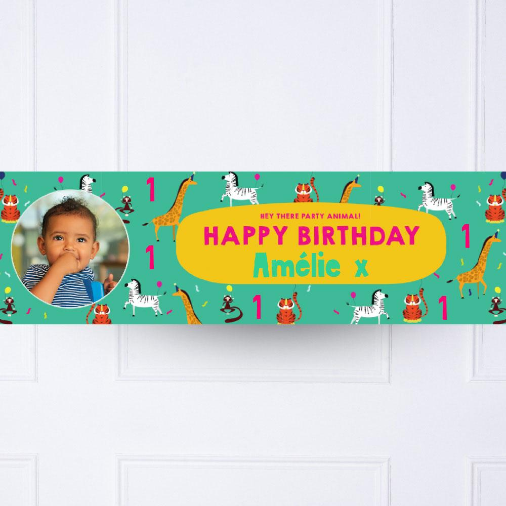 Click to view product details and reviews for Animal Party 1st Birthday Personalised Party Banner.