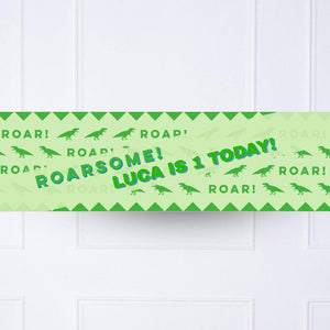 Let's Roar 1st Birthday Personalised Party Banner