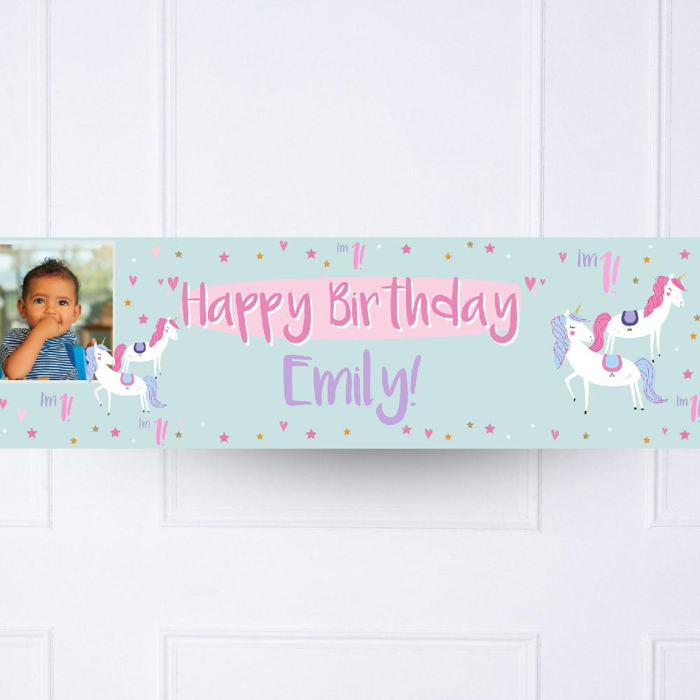 Click to view product details and reviews for Unicorn Party 1st Birthday Personalised Party Banner.