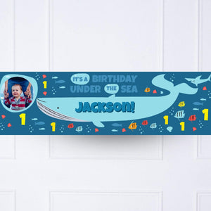 Under The Sea 1st Birthday Personalised Party Banner